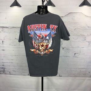 Motorcycle Screen T-Shirt 2012 Austin Tx.  1674